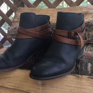 Holding Horses black and brown leather booties